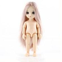 Muñeca articulada de 15cm para niñas, muñeco articulado BJD, Cuerpo desnudo desnuda, regalo para niñas, 1/8