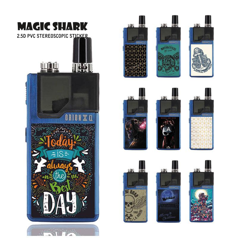 Magic Shark Merry Christmas Defensive Skull Captain American Cover Case Sticker Film for Lost Vape Orion 001-010
