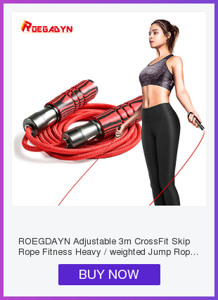 Skipping Ropes Adjustable 3m Heavy Weighted Jump CrossFit Bearing Metal Cable