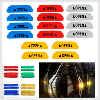 Car Door Open Reflective Tape Warning Night Sticker for BMW EfficientDynamics 335d M1 M-Zero 545i 530xi X2 X3 M5 M2 image