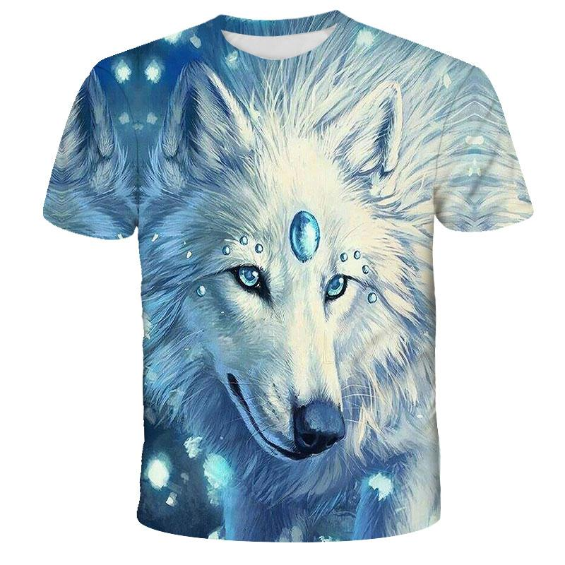 Lovers Wolf Printed T shirts Men 3d T-shirts Drop Ship Top Tee Short Sleeve Camiseta Round Neck Tshirt Fashion Casual Brand 5