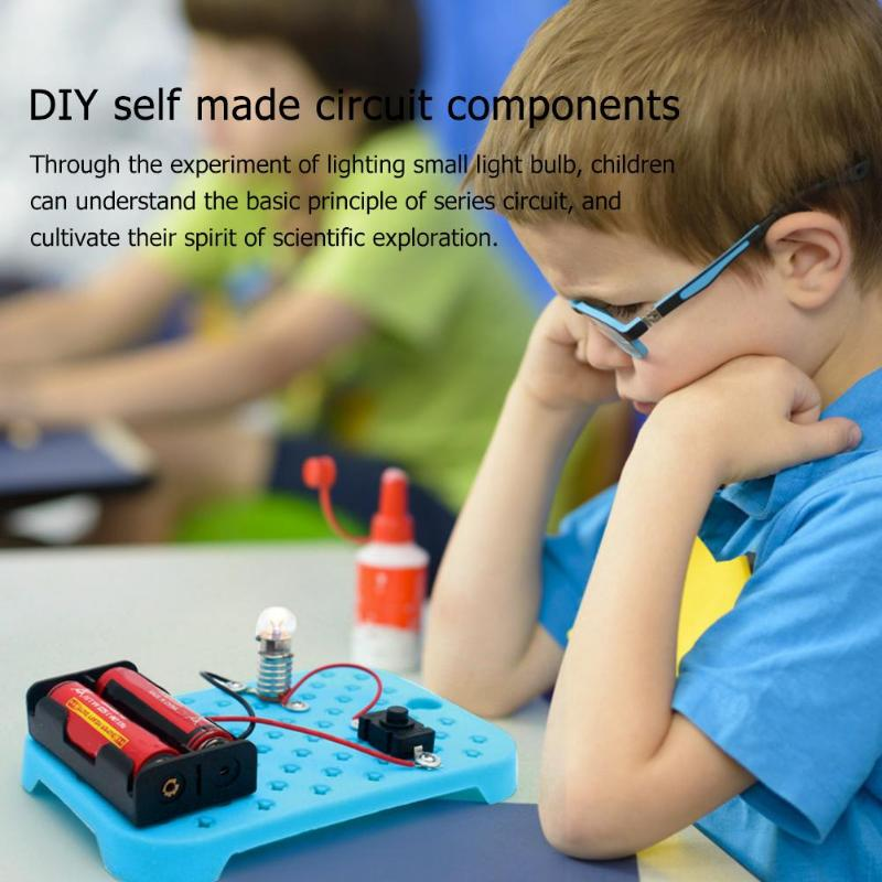 Physical Science Experiments DIY Circuit Kit Excellent ABS And Electronic Components Children Educational Manual Toys