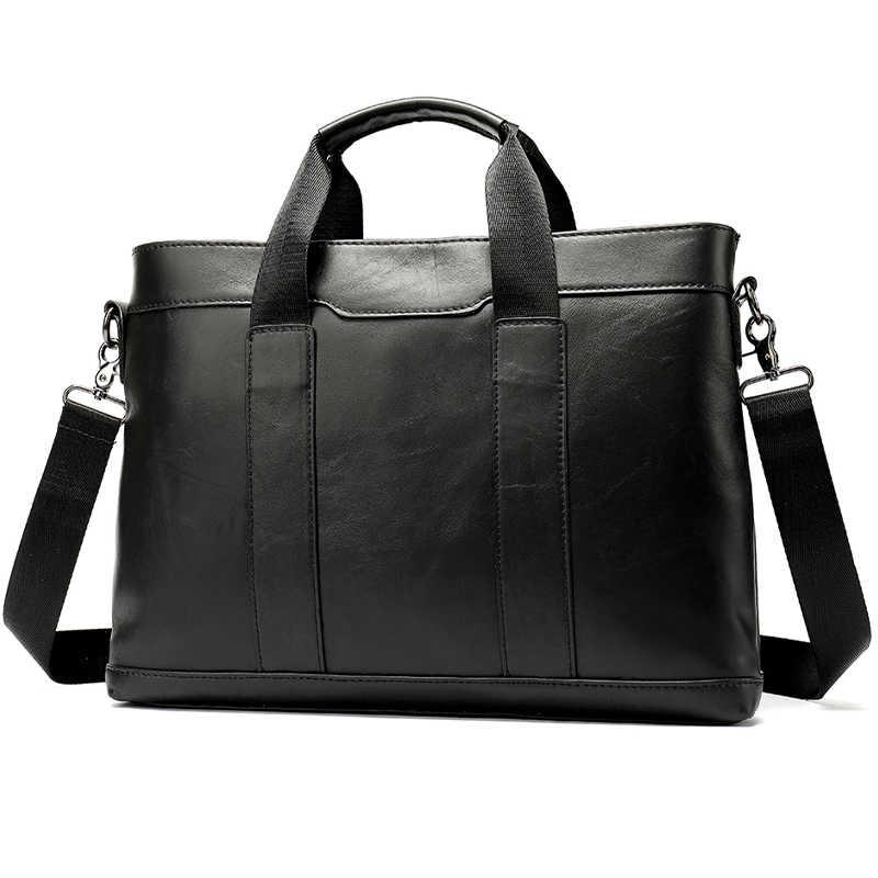 رجالي حقائب جلدية حقيبة لابتوب الرجال حقيبة جلدية حقيقية الرجال حقيبة للمستندات رجل حقيبة يد حقيبة evrak cantasi 305