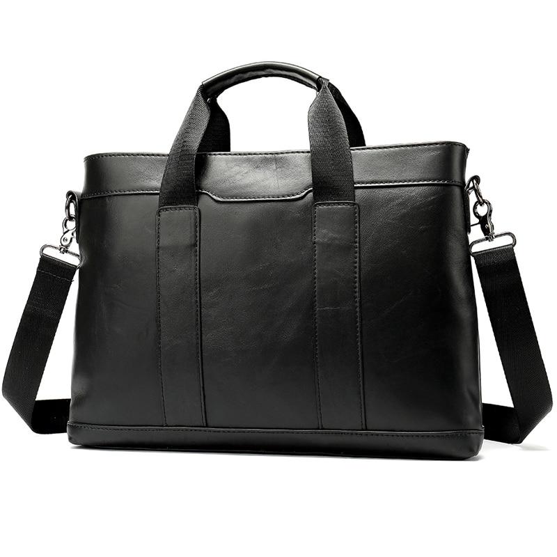 Mens Briefcases Leather Laptop Bag Men Genuine Leather Briefcase Men Bag For Documents Man Briefcase Handbag Evrak Cantasi   305