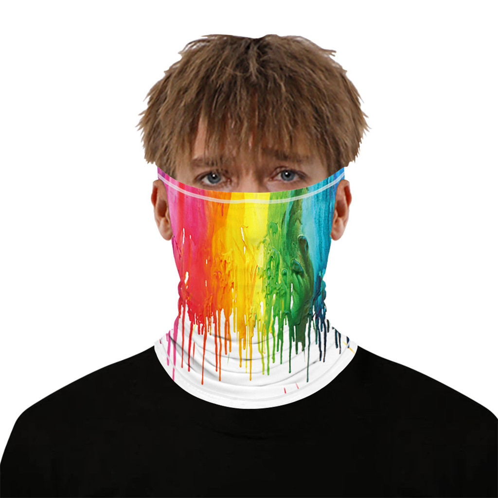 Stylish Printed Dustproof Scarf Mask 35