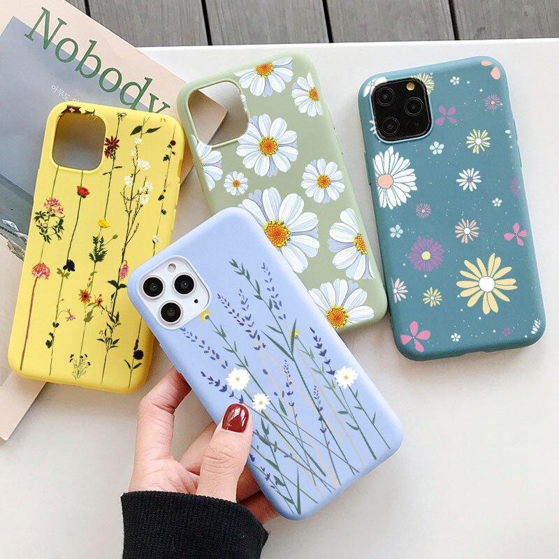 Luksusowy kwiat etui na telefony dla Xiaomi Redmi uwaga 9 8 8T 9 S 7 6 Pro 5 7A Mi Poco X3 NFC A1 A2 A3 8 9 SE 9T 10 Lite Pro TPU okładka|Obudowa telefonu|   -