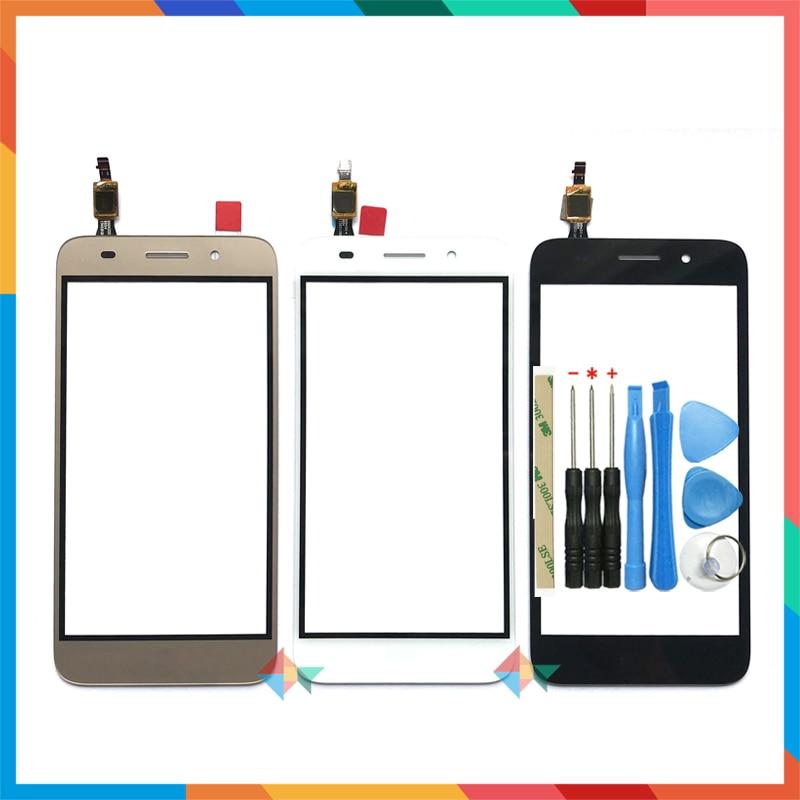 Высококачественный сенсорный экран 5,0 дюйма для Huawei Y3 2017 дюйма, фотосессия CRO-U00/Y5 lite, дигитайзер, переднее стекло, линза, сенсорная панель