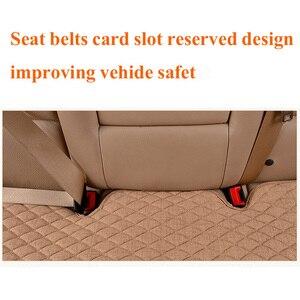 Image 4 - Keten araba klozet kapağı dört mevsim ön arka keten kumaş yastık nefes koruyucu Mat Pad oto aksesuarları evrensel boyutu