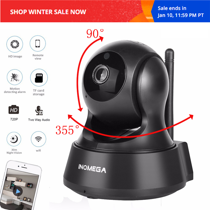 INQMEGA IP Camera Home Security Two Way Audio HD 720P 1080P Draadloze Mini Camera 1MP Nachtzicht CCTV WiFi Camera Baby Monitor