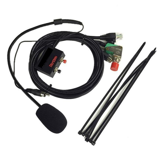 Walkie talkie pojazdu mikrofon głośnomówiący dla YAESU na rzecz FT, 1802/1902/2800/ 7800/7900R/8900R zestawy samochodowe 6 core krystalicznie głowy