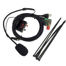 מכשיר קשר הרכב דיבורית מיקרופון לyaesu עבור FT 1802/1902/2800/7800/7900R/8900R סטי מכונית ליבות Crystal ראש