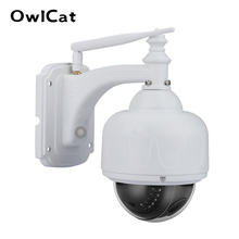 OwlCat SONY CMOS Dome IP Camera Wifi x5 Zoom Ottico Esterna Impermeabile Senza Fili di IR PTZ CCTV HD 2MP 5MP Microfono slot di memoria