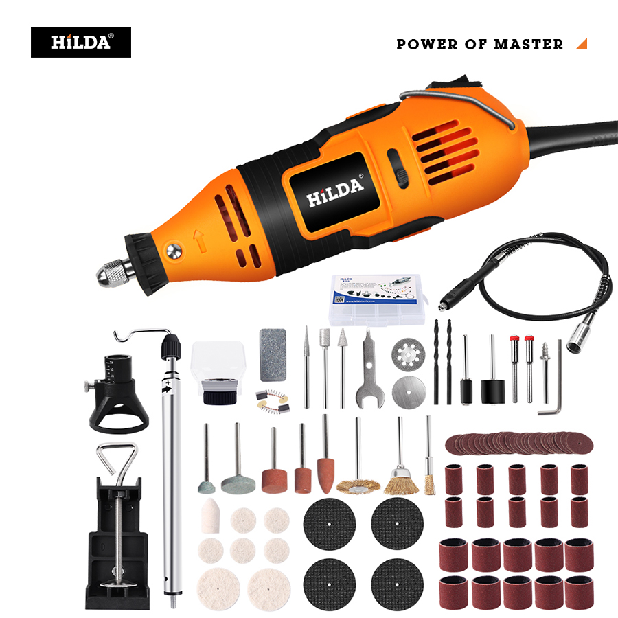 HILDA Electric Drill Dremel Grinder Engraving Pen Mini Drill Electric Rotary Tool Grinding Machine Dremel Accessories Power Tool