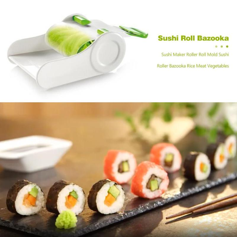 Roller Sushi Roll Mold Kitchen Tools For Sushi Maker Bazooka Rice And Meat.