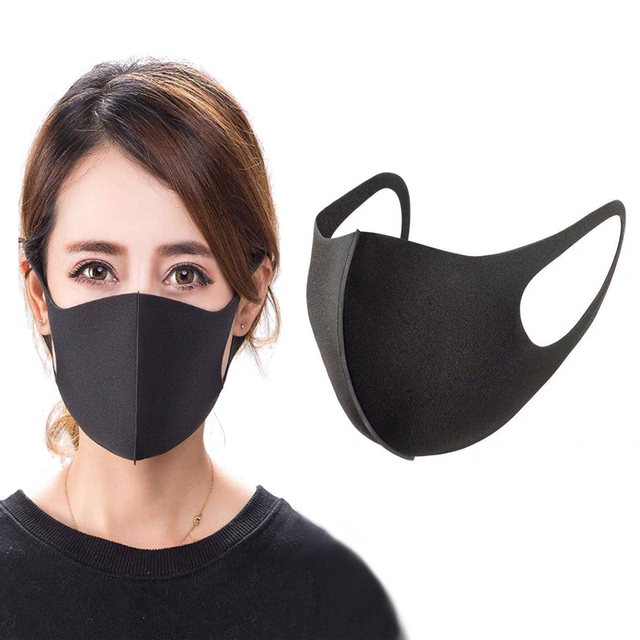 PM2.5 Anti Dust Black Mask Bacteria Proof Flu Mouth Mask Activated Carbon Windproof Muffle Washable Reusable Face Masks
