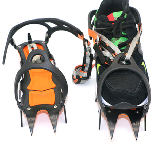 Image 2 - 12 Teeth Crampons Manganese Steel Climbing Gear Snow Ice Anti Skid Climbing Shoe Grippers Mountaineering Crampon Traction Device