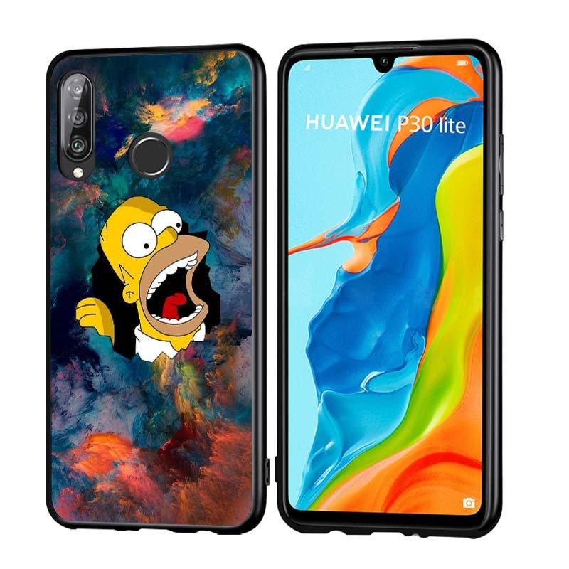 Cartoon Simpson Anti-Fall Phone Case For Huawei P30 P20 P40 Lite E Pro P Smart Z Plus 2019 P10 P9 Lite Back Cover
