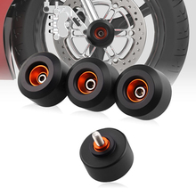 купить 4 pcs Front&Rear Fork Wheels Frame Slider Crash Protectors For KTM RC390 Duke C76 по цене 1171.71 рублей