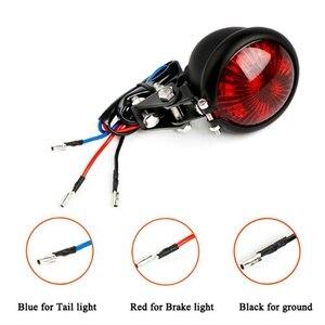 Czerwony 12V Led czarny regulowany Cafe Racer styl Stop światło tylne motocykli motocykl hamulca tylna lampa ogon światło do motocykla Harley Choppe
