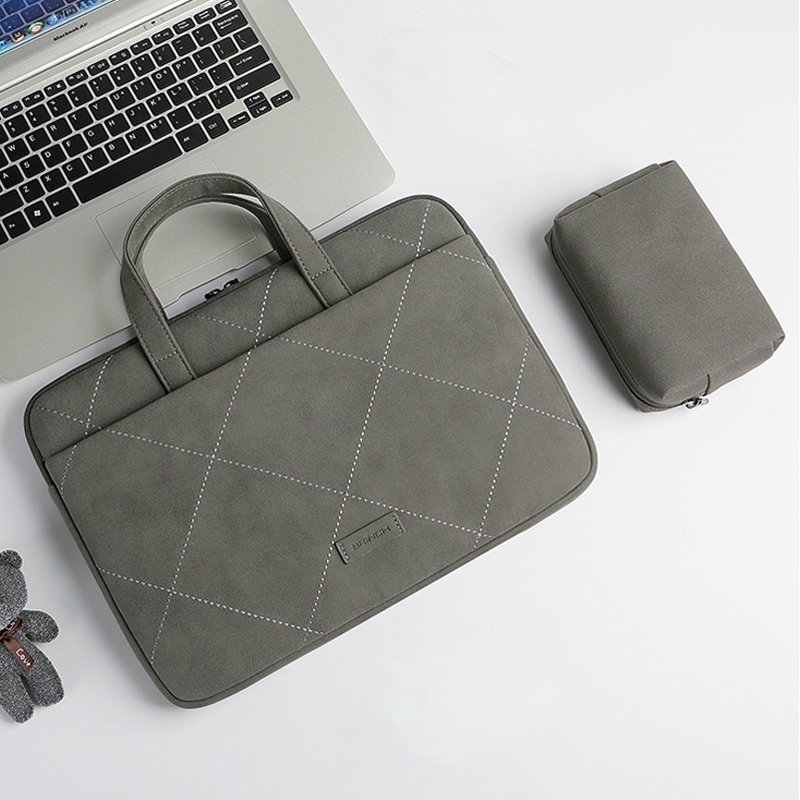 Waterproof Bag For Women 2019 Matte PU Laptop Handbag 13.3 14 15.6 For Macbook Air 13 A1932 Case New Pro 15 A1707 A1990 Cover
