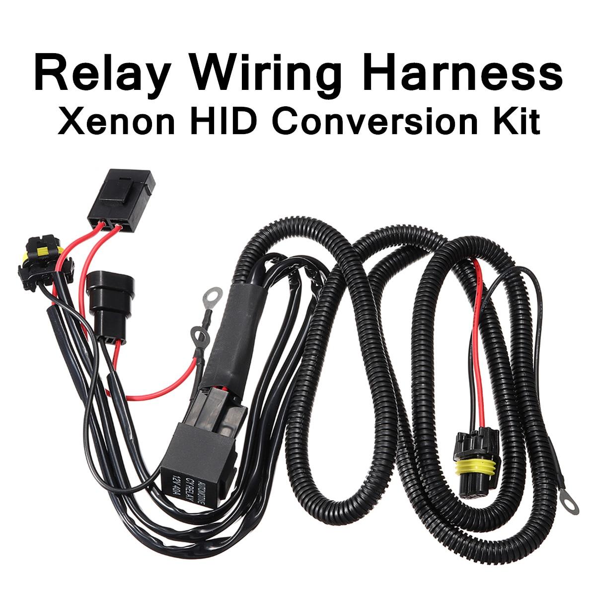 Комплект для переоборудования ксеноновых кабелей HID, релейный комплект для переоборудования 9005 9006 HB4 H1 H3 H7 H10 H11, простой предохранитель для у...