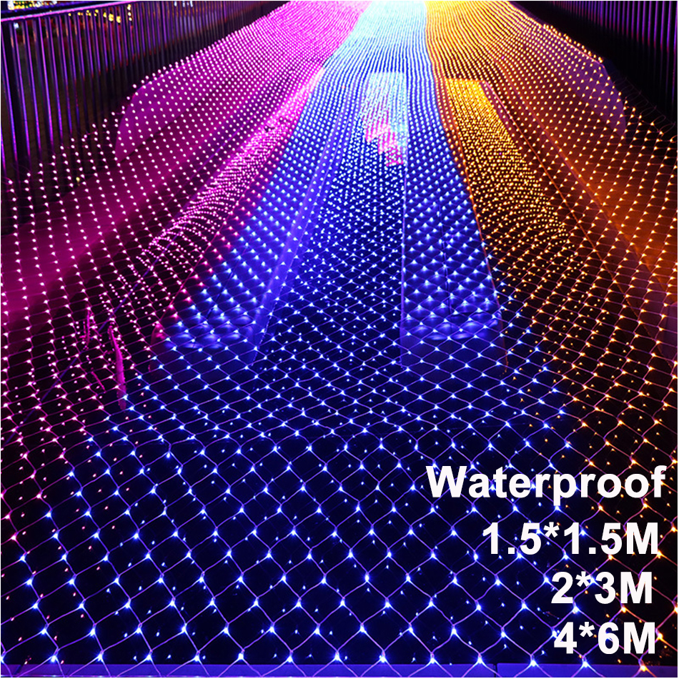 LED Mesh Christmas Fairy Lights Decoration Outdoor LED Net Light Garden Decorative Waterproof 220V 110V Wedding Party Holiday