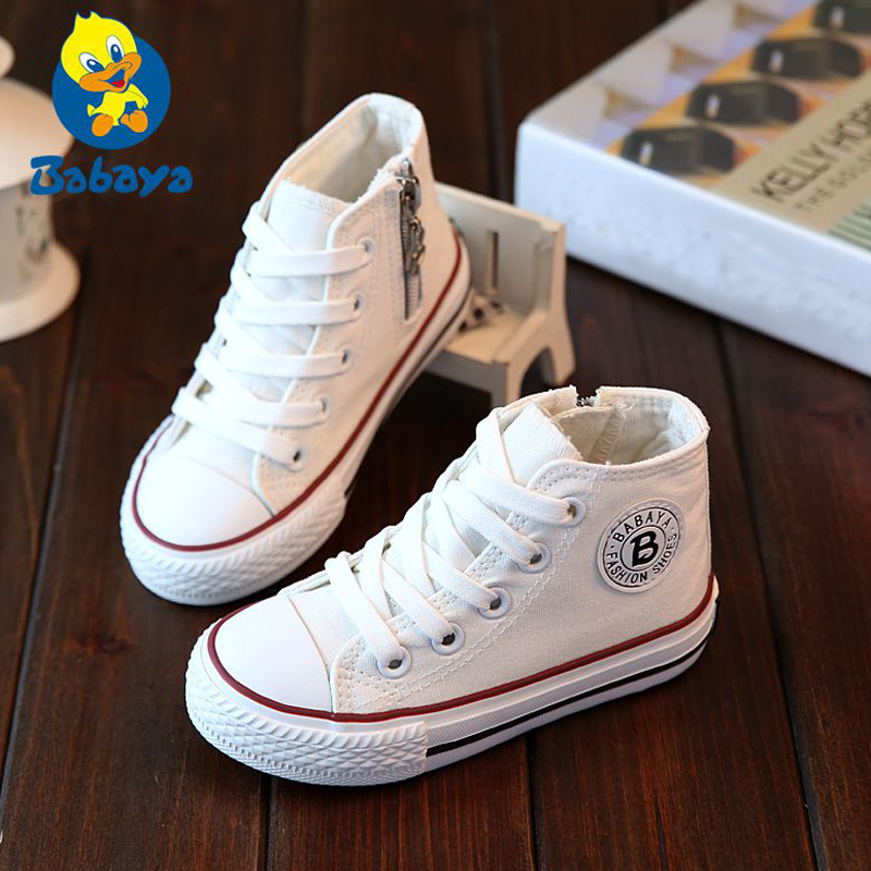 2019 Canvas Children Shoes Sport Breathable Boys Sneakers Brand Kids Shoes For Girls White Casual Child Flat Boots 23-37
