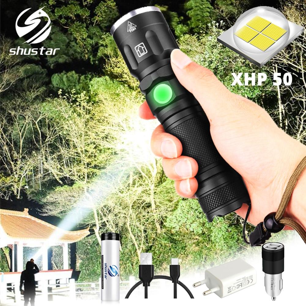 5 XHP50 LEVOU Lanterna À Prova D' Água Super brilhante iluminação modos Zoomable Tocha Use 18650 ou 26650 bateria para aventuras ao ar livre