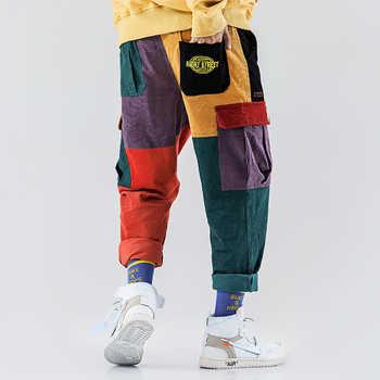 Aelfric Eden Corduroy Casual Pants Men Colorful Harem Joggers Fashion Harajuku Sweatpants Hip Hop Streetwear Male Trousers UR51