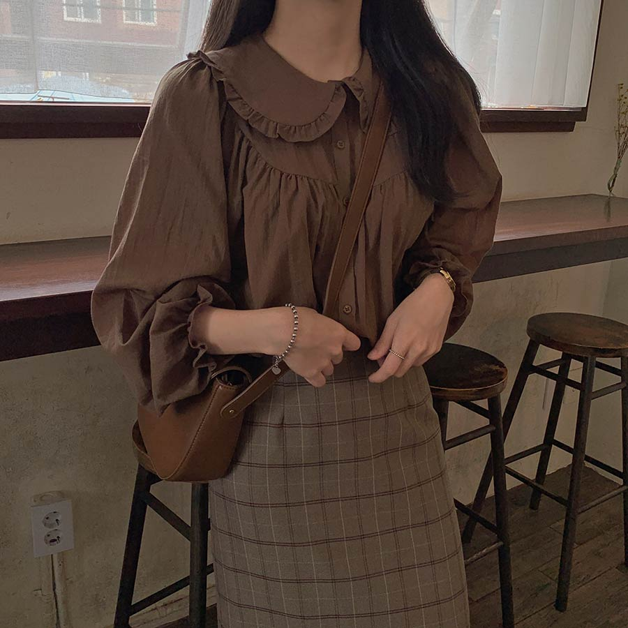 New Spring Solid Vintage Shirt Female Oversize Tops Women Long Sleeve Girls Blouse Plus Size Autumn Women Blouses Femme Blusas