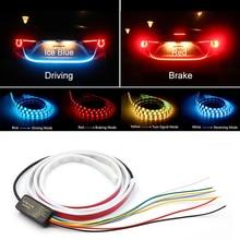 Luz de parada adicional dinâmica streamer flutuante led cauda do carro tronco bagageira tira dinâmica streamer turn signal lâmpada