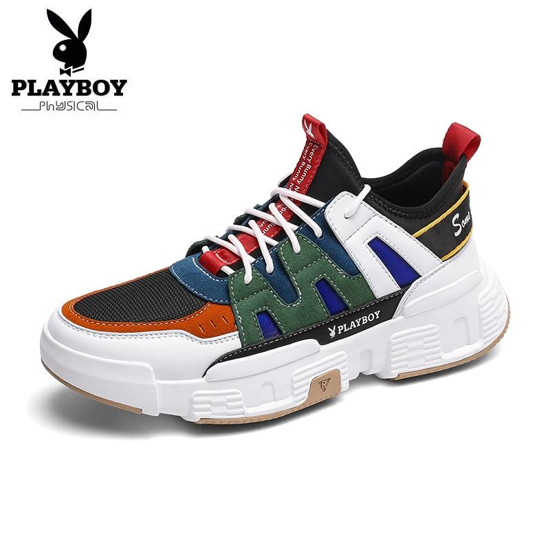 PLAYBOY Nieuwe mannen Loopschoenen Ademende Jogging Schoenen Mannen Lichtgewicht Sneakers Mannen Schoenen Outdoor Sportschoenen Mannelijke zapatos