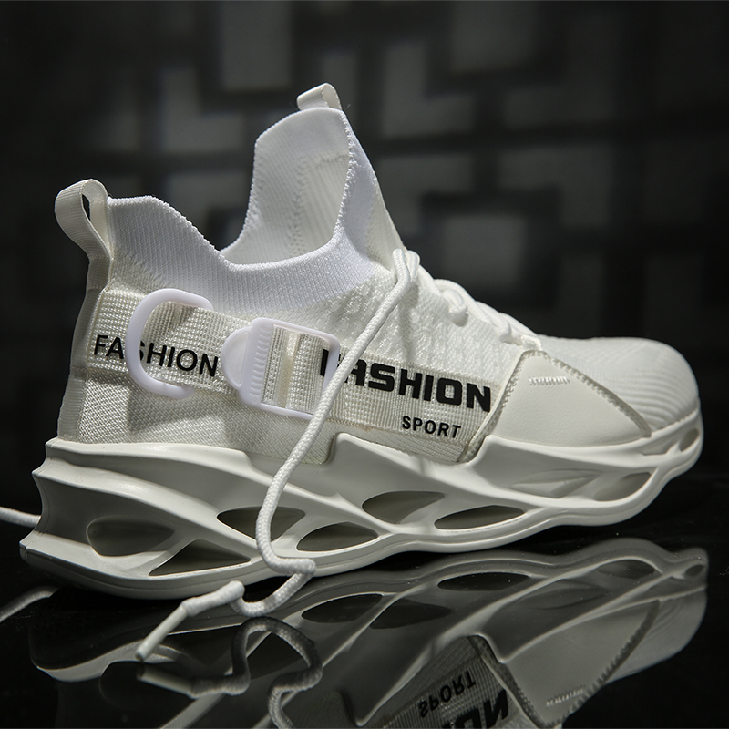 Air Mesh Men Sneakers 2020 New Blade Sole Fashion Shoes Buckle Breathable Sports Sneakers Summer Lightweight Walking Shoes