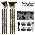 Машинка для стрижки волос T9, профессиональный электрический триммер для мужчин, 0 мм, Парикмахерская, Беспроводная Бритва