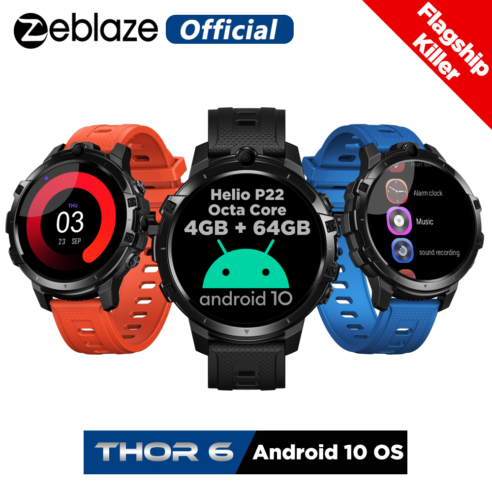 Android Smartwatch Global-Bands Killer Zeblaze Thor Flagship 4G 64GB 6-Octa-Core OS New