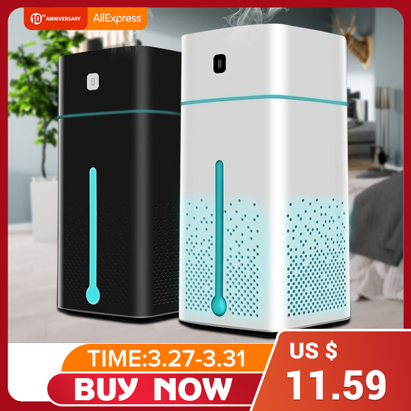 Household Air Purifier with Essential Aromas Oil Diffused and 7 Color LED Lights Powered by USB 1