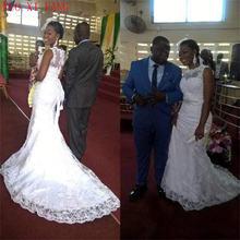 Бальное платье в африканском стиле; белое свадебное с длинными