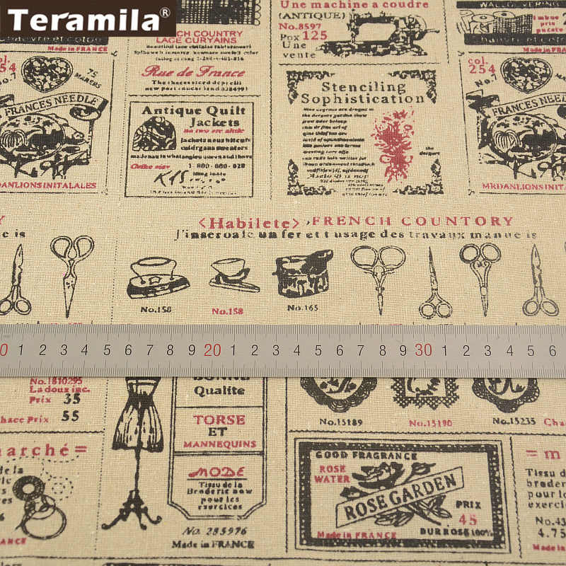 Sewing Material Tissu Cartoon Drawing Tablecloth Pillow Bag Curtain Cushion Pillow TERAMILA Home Textile Cotton Linen Fabric