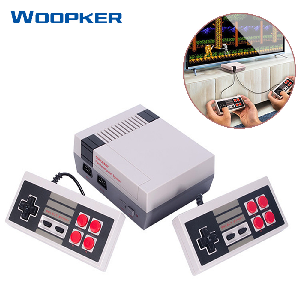 Mini TV Handheld Video Game Console  AV Port Retro Built-in 620 Classic Games with Dual Controllers Kids Video Gaming Console