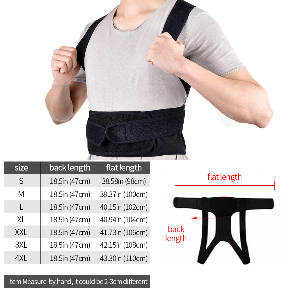 running - Waist Trainer Back Posture Corrector Shoulder Lumbar Brace Spine Support Belt Adjustable Adult Corset Posture Correction Belt