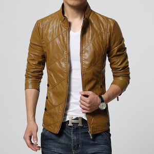 Image 4 - HCXY 2019 Mens Motorcycle Leather Jackets Men Autumn PU Leather Clothing Men Leather Jacket Male Business Upscale casual Coats