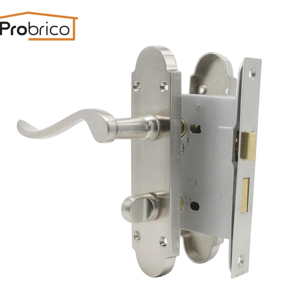 Probrico Handle Interior Door Handles Front Back Lever With Panel Mortise Lock Household Gate Accessories For Bedroom Bathroom