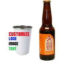 cup stainless steel coffee cup mug customize image logo text kitchen drinkware personalize beer cup 420 ML metal mug mug lefard 400 ml tropical motif