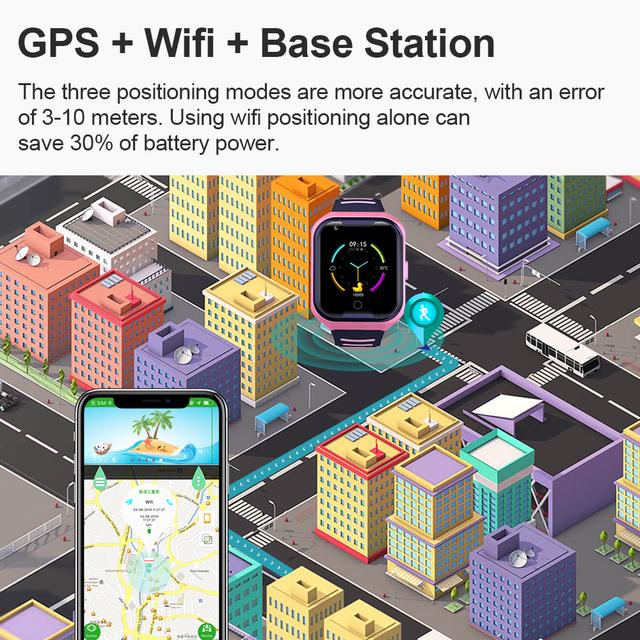 4G Kids Smart Watch GPS Touch Screen SOS SIM Phone Call Waterproof Children Watch with Camera LEMFO Kids Watches
