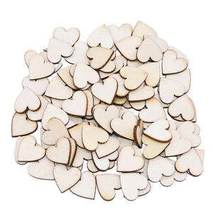 Wood Slices Heart Love Blank Unfinished Discs Natural Crafts DIY Wedding Party Ornaments Home Room Embellishments Decoration