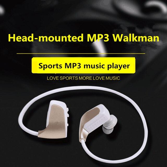 אלחוטי אוזניות MP3 תלמיד ספורט ריצה אלחוטי אוזניות אחד מכונה MP3 לביש Lossless מוסיקה נגן