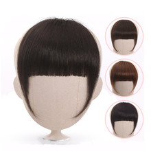 Bangs Hair-Pieces Fringe Blonde Human-Hair Clip-In Halo Lady 613 Blunt Neat Beauty Non-Remy