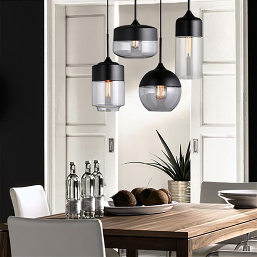 Hed3f95eed7c141a6a4dc052bed25e318a - Modern Home Decor Pendant Lights Nordic Clear Glass Lampshade Pendant Light Indoor Lighting Living Room Hanglamp Light Fixture