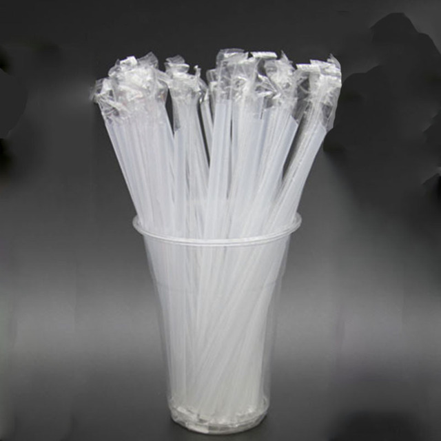 100pcs Clear individually wrapped Drinking PP Straws Tea Drinks Straws Smoothies Jumbo Thick holiday event party 1
