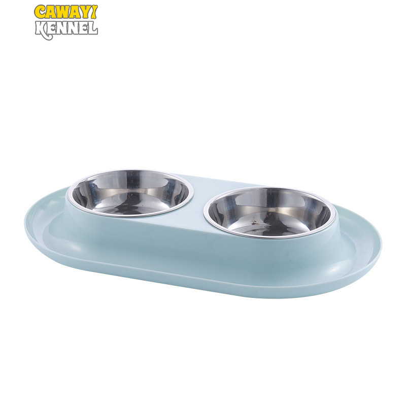 CAWAYI KENNEL Dog Feeder Drinking Bowls For Dogs Cats Pet Food Bowl Comedero Perro Miska Dla Psa Gamelle Chien Chat Voerbak Hond
